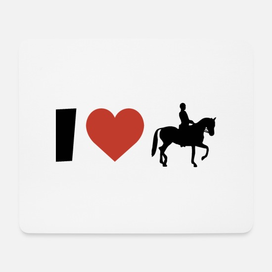 Love Mouse Pads - I love riding galloping horses - Mouse Pad white