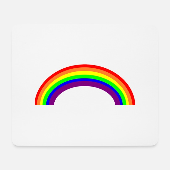 Rainbow Mouse Pads - rainbow - Mouse Pad white