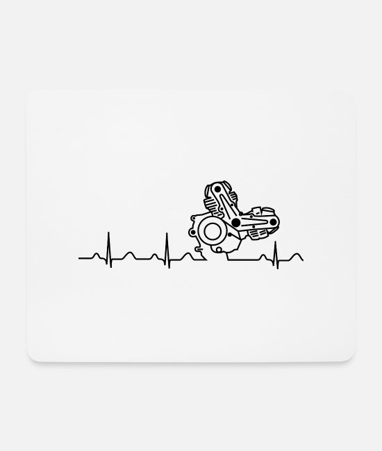 900S Mouse Pads - Ducati Heartbeat black - Mouse Pad white