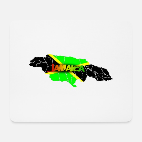 Hemp Mouse Pads - Jamaica - Mouse Pad white