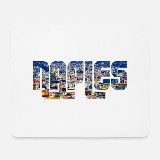 Naples Mouse Pads - Naples Campania - Mouse Pad white