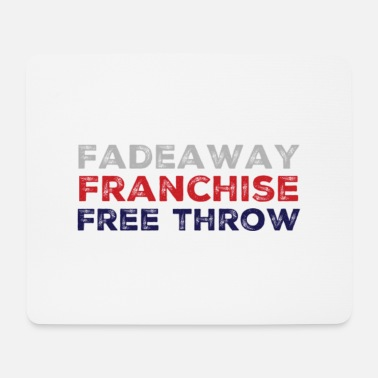 Free Throw Fadeaway Franchise Free Throw - Vintage Basket - Mouse Pad