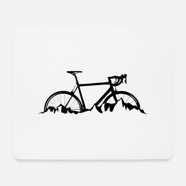 Travelling by road bike in the mountains - Mouse Pad