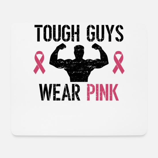 Breast Mouse Pads - Breast Cancer Awareness Art For Warrior Women Light - Mouse Pad white