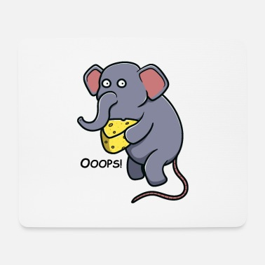 Tusk Elephant tusked animal cheese love gift - Mouse Pad