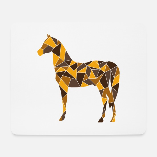 Gift Idea Mouse Pads - geometric horse gift shirt - Mouse Pad white