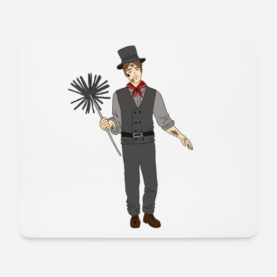 Birthday Mouse Pads - Chimney sweep gift design birthday occupation - Mouse Pad white