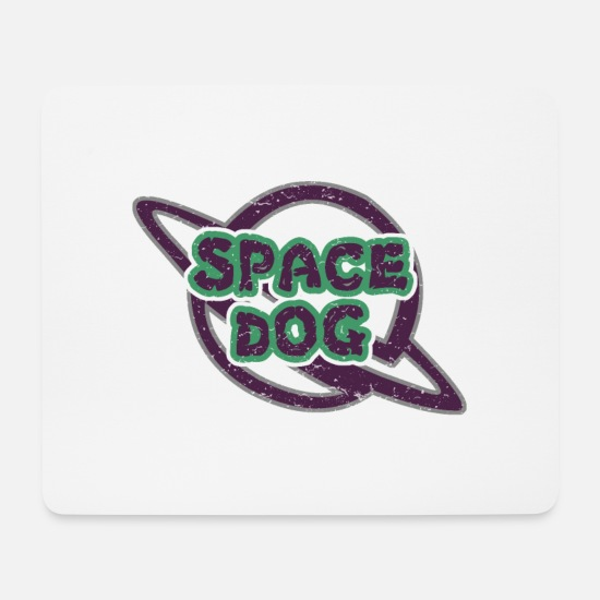 Dogge Mousepads  - Space Dog - Mousepad Weiß
