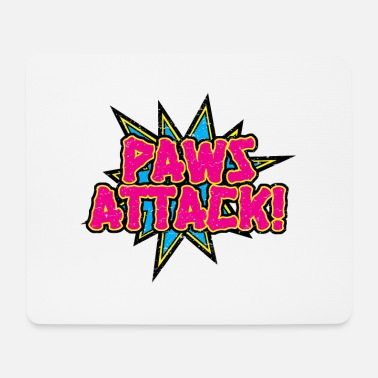 Attack Paws Attack! - Mouse Pad