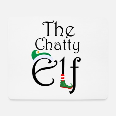 Elf The Chatty Elf - cute Christmas design - Mouse Pad
