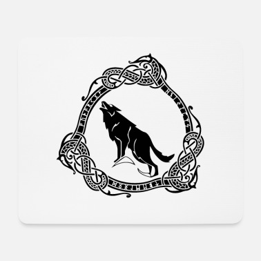 Mjölnir Fenrir Norse The Nordic monster wolf - Mousepad