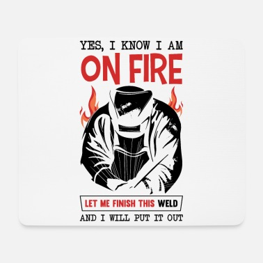 Mechanic Funny Welder Quote There is no app for di - Mouse Pad