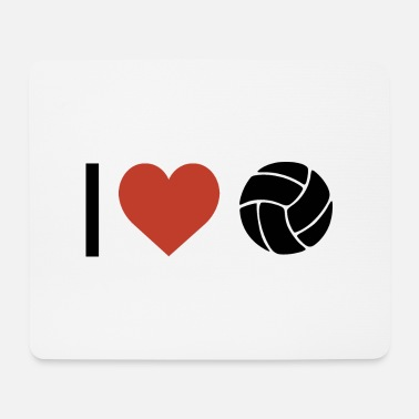 Sport I heart volleyball sport - Mouse Pad