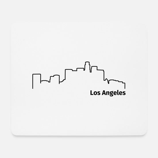 Usa Mousepads  - Los Angeles - Mousepad Weiß