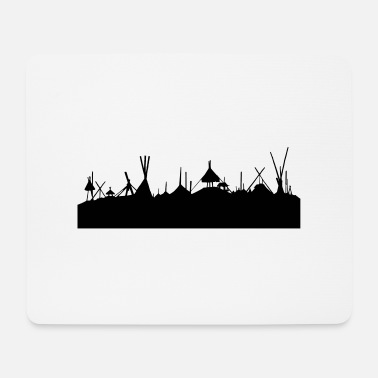Tent skyline - Mouse Pad