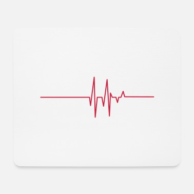 Attack heart line - Mouse Pad
