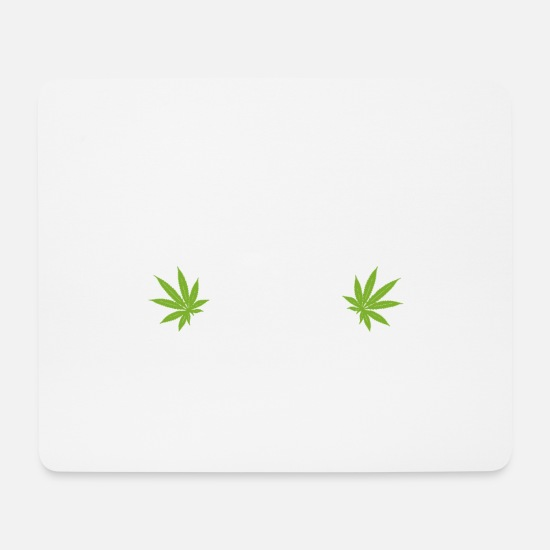 Cigarette Tapis de souris  - Smoke the grass cannabis - Tapis de souris blanc
