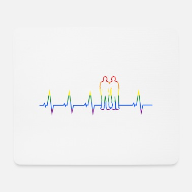 Sultry Gay couple - heartbeat - DE - Mouse Pad