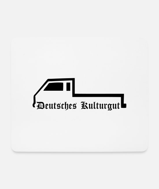Bus Mouse Pads - Doka Transporter flatbed flatbed pickup - Mouse Pad white