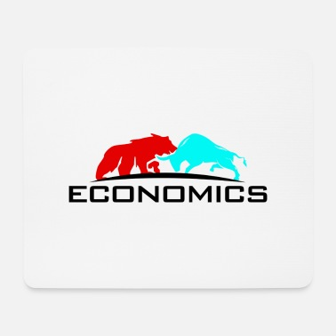 Wall Street Stock Bull Bear Business Gift Idea - Mouse Pad