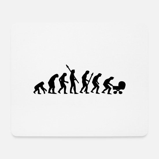 Provocation Mouse Pads - Evolution of Men - Mouse Pad white