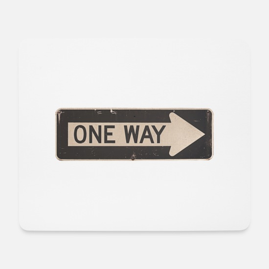 Gift Idea Mouse Pads - one way - Mouse Pad white