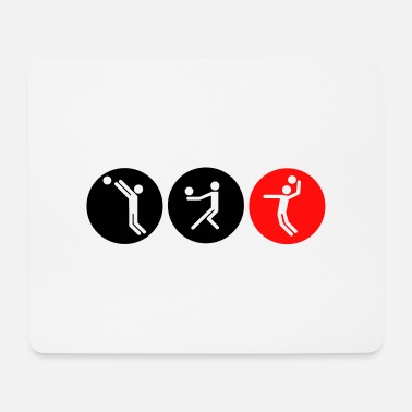 Volleyball symbole bicolor - Mousepad
