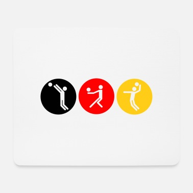 Volleyball symbole tricolor - Mousepad