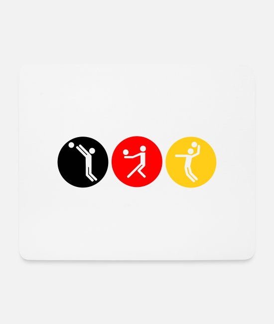 Anmachen Mousepads - Volleyball symbole tricolor - Mousepad Weiß