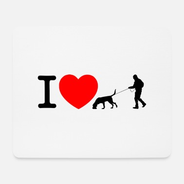 Mantrailing Ich liebe mantrailing - Mousepad