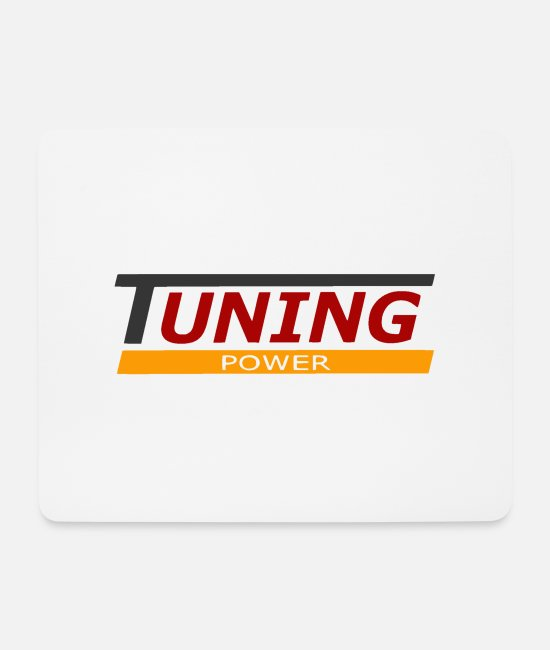 Cars Mouse Pads - tuning power - Mouse Pad white