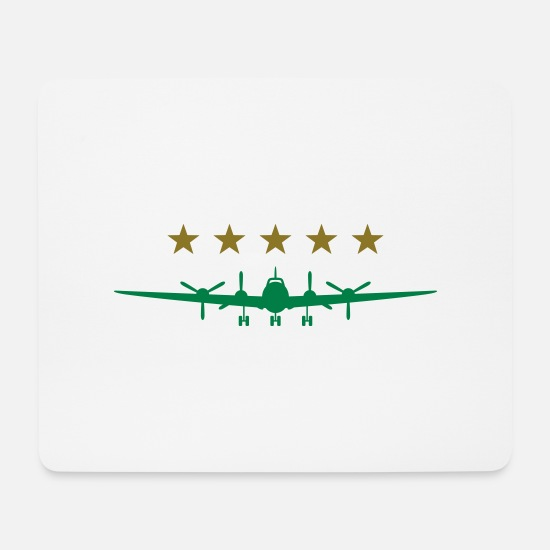 Pilot Mouse Pads - Propeller aircraft - Mouse Pad white