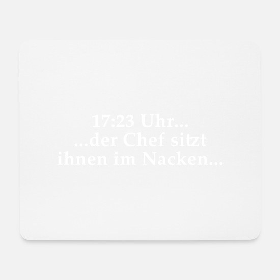 Boss Mouse Pads - The boss is sitting on their necks - Mouse Pad white