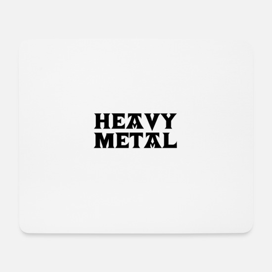 Death Metal Mousepads  - Heavy Metal - Mousepad Weiß