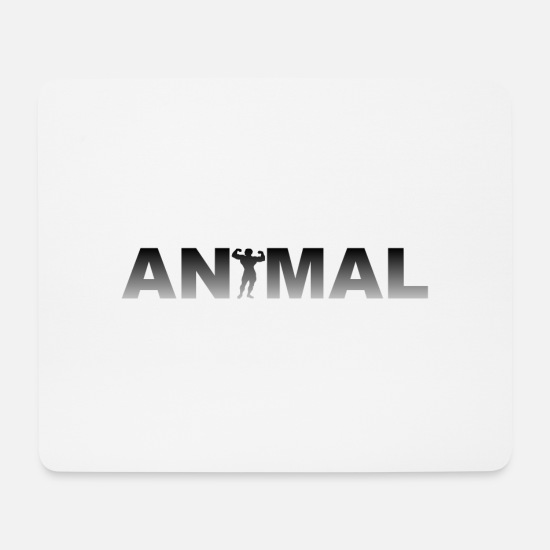 Body Builder Mouse Pads - Animal - Bodybuilding - Fitness - Bodybuilder - Mouse Pad white