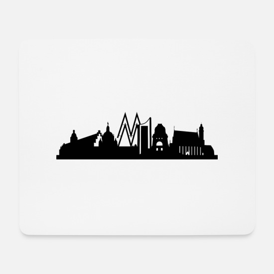 College Mouse Pads - Leipzig skyline - Mouse Pad white
