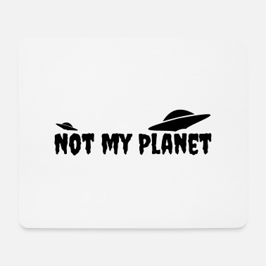 Planet Ikke min planet - Mousepad (bredformat)