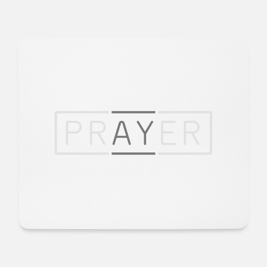 Christ Mouse Pads - Prayer - Mouse Pad white