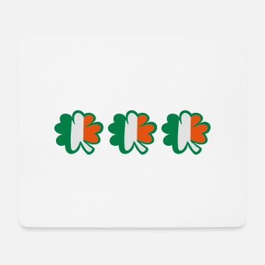 Uk Underwear ♥ټ☘Kiss the Irish Shamrocks to Get Lucky☘ټ♥ - Mouse Pad