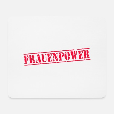 Stempel stempel frauenpower - Mousepad