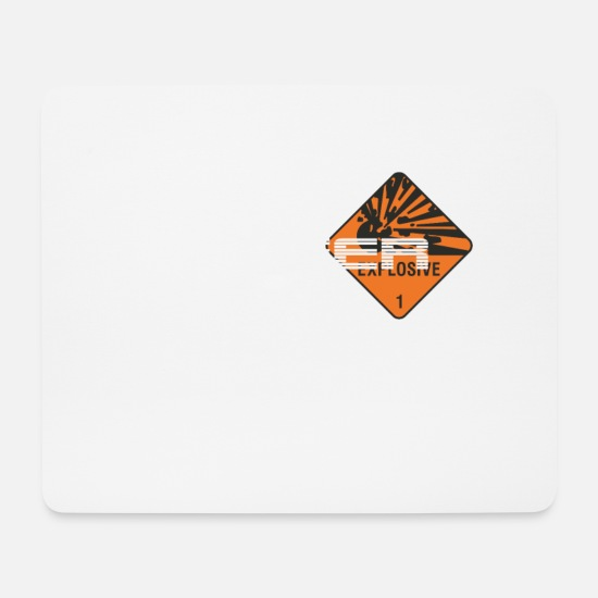 Danger Sign Mousepads  - Danger Explosiv - Mousepad Weiß