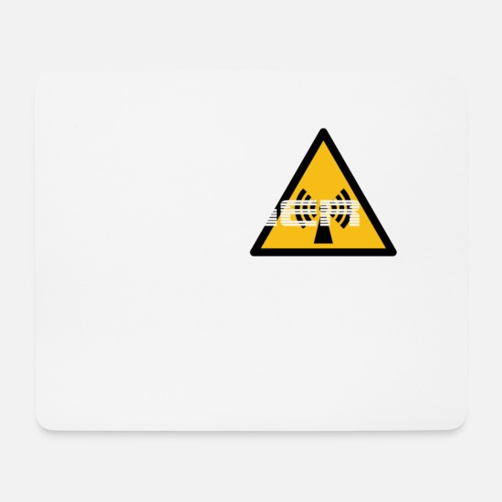 Gift Idea Mouse Pads - Danger radio radiation - Mouse Pad white