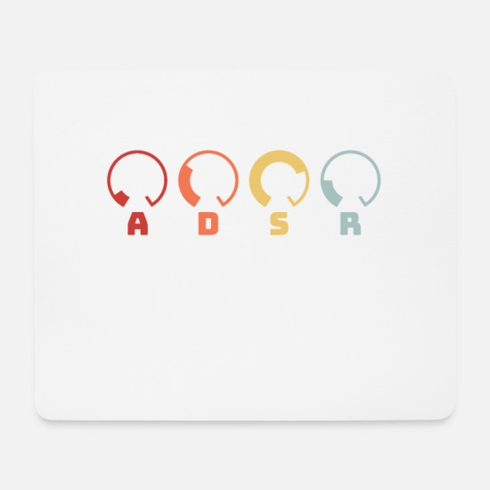 Synthesizer Mouse Pads - ADSR Synth Synthesizer Retro DJ Music Gift design - Mouse Pad white