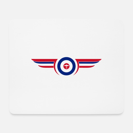 British Mouse Pads - airforce - Mouse Pad white