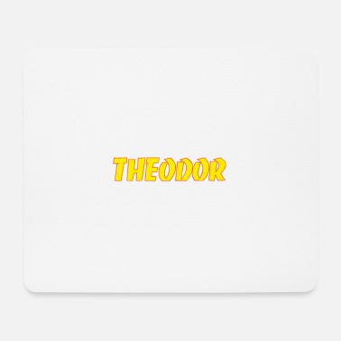 Theodore yellow Theodor logo - Mouse Pad