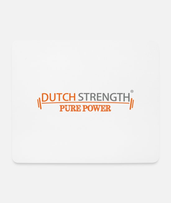 Training Muismatjes - Dutch Strength - Muismat wit