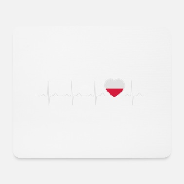 Republic Of Poland Polska heartbeat - my heart beats for Poland - Mouse Pad