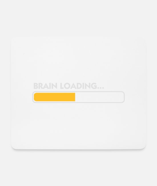 Hang Mouse Pads - Brain Loading - Mouse Pad white