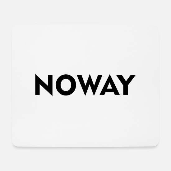Minimum Mouse Pads - NO WAY - Mouse Pad white