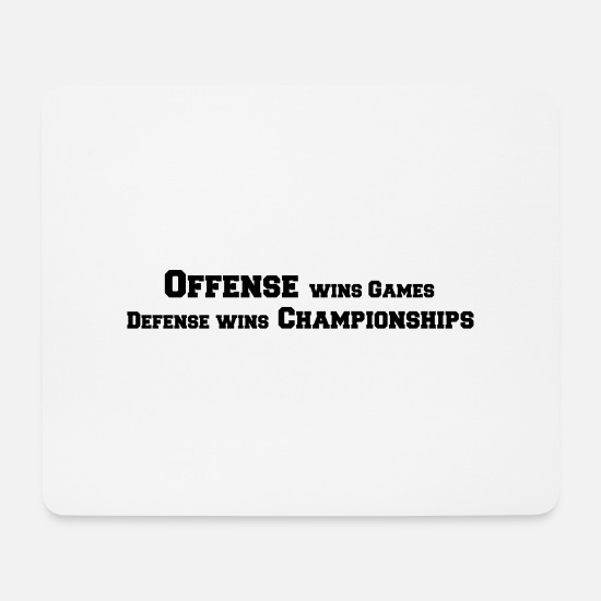 Dribbling Mousepads  - Offense Wins Games Defense Wins Championships - Mousepad Weiß